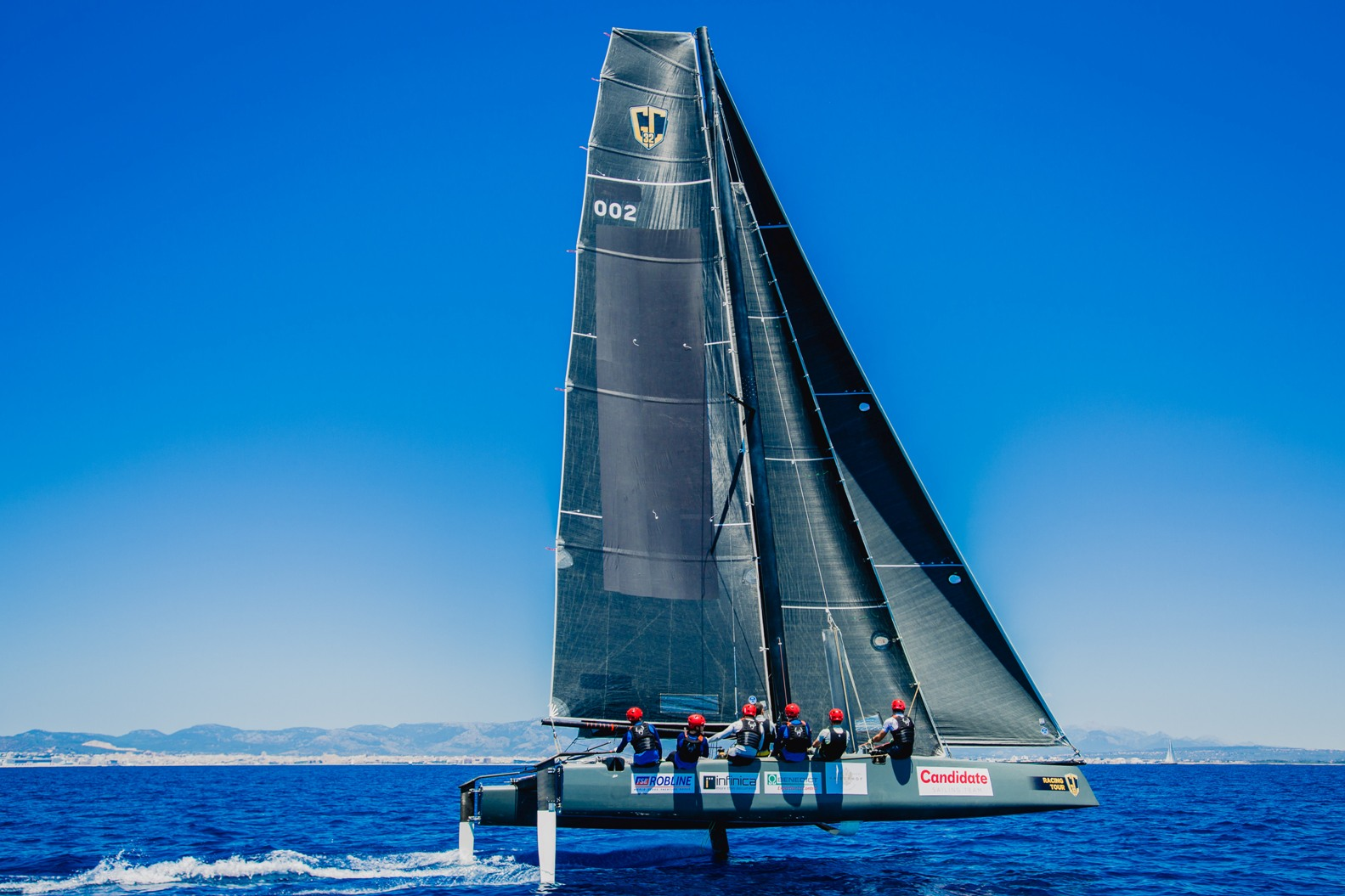 Candidate Sailing Team beim Foilen vor Palma 01 send c_CST dapic.rocks