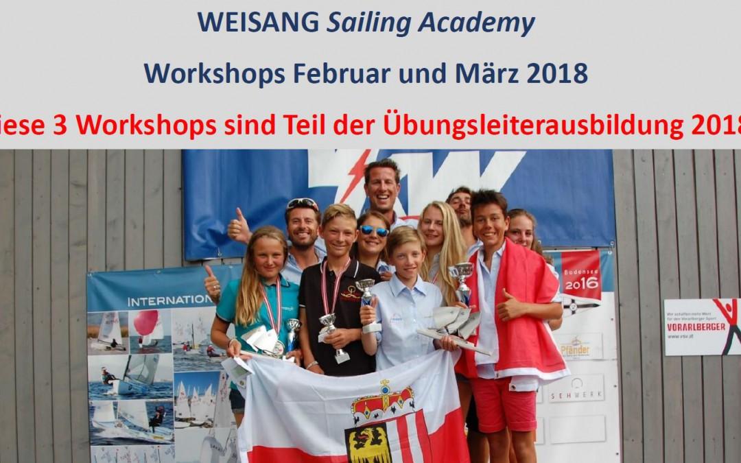 WORKSHOPREIHE WEISANG Sailing Academy – Workshops Februar und März 2018