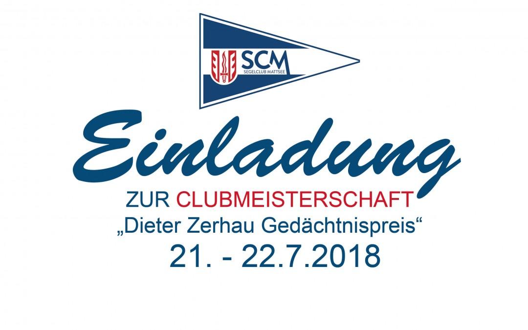 EINLADUNG CLUBMEISTERSCHAFT 21.-22.7.18