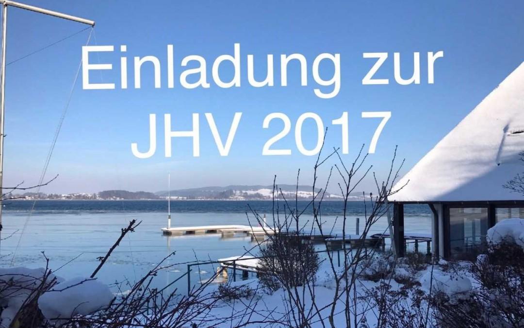 EINLADUNG ZUR JHV 2017 UND VORLÄUFIGE TERMINE 2018