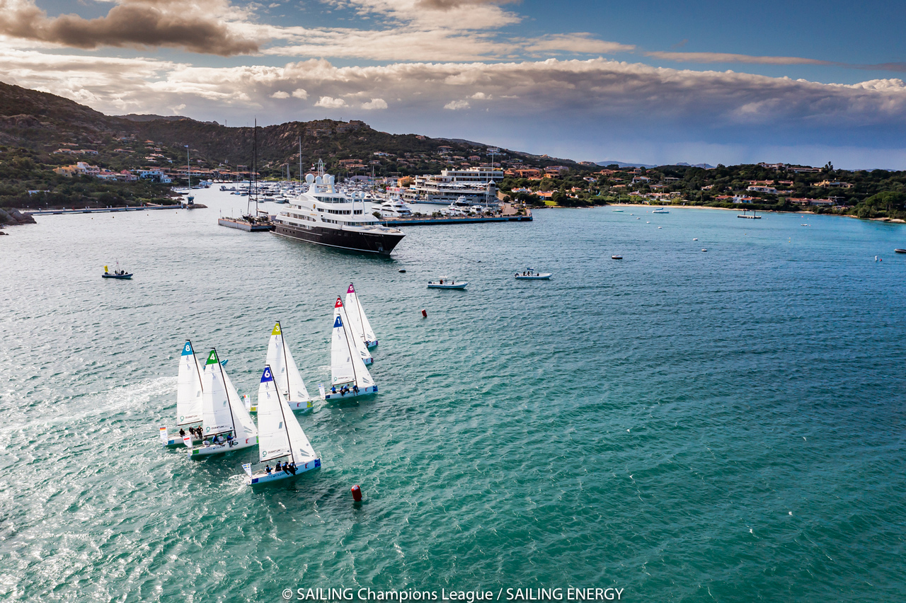 """The final of the SAILING Champions League takes place from 7th to 10th October 2021 in Porto Cervo in Sardinia. The best 30 sailing clubs from 15 countries will compete for the title """"Best Yacht Club of the Year"""" at the hosting Yacht Club Costa Smeraldar14 September, 2017r© SAILING Champions League / SAILING ENERGY"""